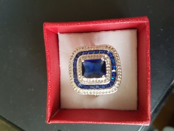 925 Silver ring med 2,12 Ct. Sapphire