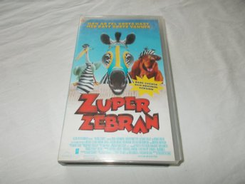 Zuper Zebran VHS PAL Svenskt tal Racing Stripes 2005