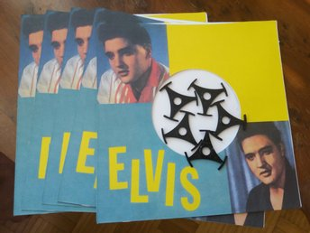 Elvis vinyl single/ep omslag +centrum triangle 5st.
