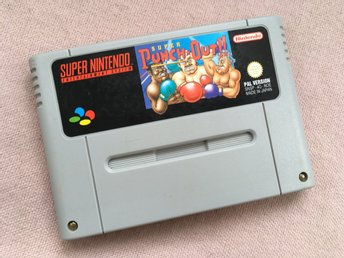 Super Punch Out!! + nytt batteri! (SNES PAL Super Nintendo)