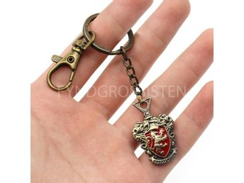 Harry Potter Nyckelring Metall Gryffindor Fri Frakt Ny
