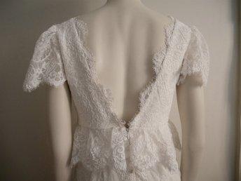 Brudklänning från By Malina Bridal S 36 bröllopsklänning vit siden ... 663c63b1ca7fb