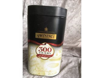 Limited Edition the te burk Twinings 300 år 1706-2006 Engelsk the burk