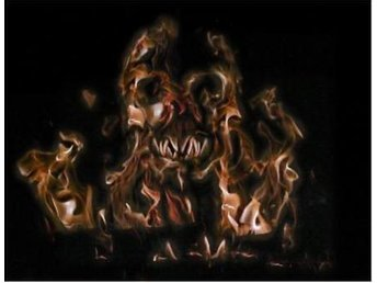 Laptop/Ipad skin - Flaming Scull *FRI FRAKT*