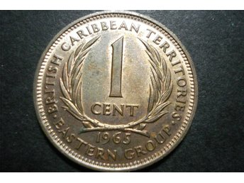 BRITISH CARIBBEAN TERRITORIES 1 CENT 1965 QUEEN ELIZABETH II
