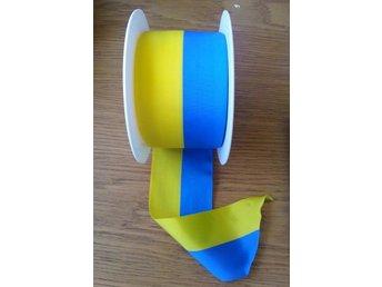 23,5 meter läckert Sverigeband, bredd 6 cm - till fest, bröllop mm - Malmö - 23,5 meter läckert Sverigeband, bredd 6 cm - till fest, bröllop mm - Malmö