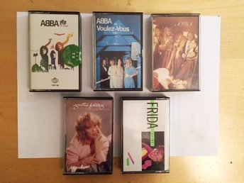 ABBA Kassettband 3 stycken samt 1 band med Frida och 1 band med Agneta - Mjölby - ABBA Kassettband 3 stycken samt 1 band med Frida och 1 band med Agneta - Mjölby