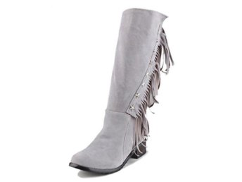 Dam Boots Bootines Mujer Lady Zipper Shoes Woman Gray 36