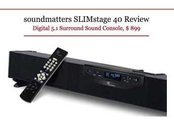 Soundmatters Slimstage 40 Dolby Digital 5.1 Surround Console Soundbar, NY