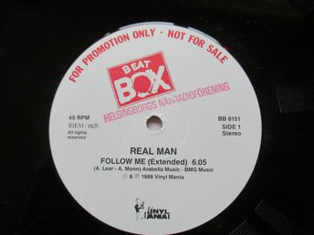 "Beat Box promo 12"" maxi: REAL MAN - FOLLOW ME (Extended)"