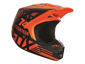 FOX V2 Union Matte Orange SKOTER CROSS MX HJÄLM #SMALL**REA -40%**