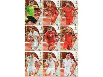 Panini Adrenalyn World Cup RUSSIA 2018 - TUNISIEN - 9 x Team mates