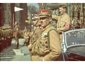 World War 2 Tredje Riket Adolf Hitler Color Foto