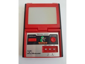 Nintendo game & watch panorama screen  Marios bombs away
