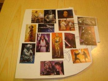 14 st. olika Star Wars frimärken Luke Skywalker - Jämjö, Blekinge - 14 st. olika Star Wars frimärken Luke Skywalker - Jämjö, Blekinge