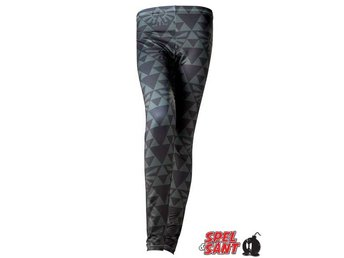 Nintendo Zelda Green Triforce Leggings Svart (Large)