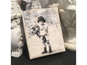 Ask papp vintage look brocante Shabby chic