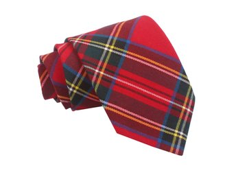 Tartan rutig slips _ Röd Red Stuart _ Regular
