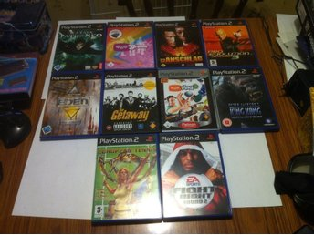 PS2: 10 st PS2 Spel King Kong, Getaway, Matrix m.m.