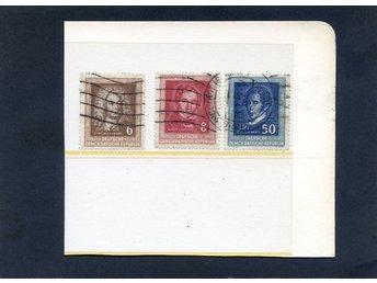 DDR Händel-serie från 1952 3märken stämplade Katalog ca 75:- - Lenhovda - DDR Händel-serie från 1952 3märken stämplade Katalog ca 75:- - Lenhovda