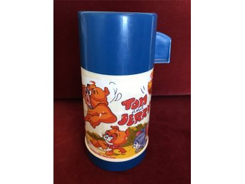Vintage Aladdin Tom and Jerry Termos-skal, c:a 0.25l., 1970-tal.