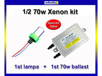 Xenon 1/2 kit Speed start 70W AC digital slim xenonkit HID 1 lampa + 1 ballast