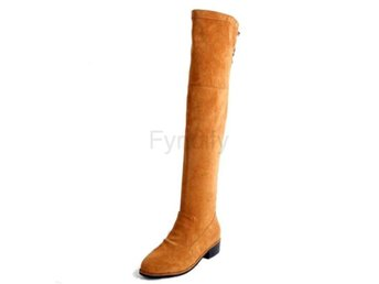 Dam Boots Women Back Strap Warm Plush Botas Brown 36