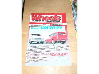WHEELS NR 11 1985 TEMA: VOLVO PV ,FORD GALAXIE -64 ,M.M