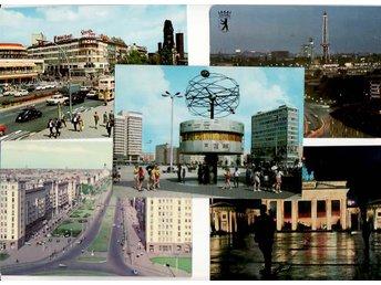 Berlin, 5 olika, även Öst-Berlin - Huskvarna - Berlin, 5 olika, även Öst-Berlin - Huskvarna