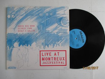 LP. Live at Montreux Jazzfestival Hudik Big Band, Gorgie Fame, Bengt A Wallin