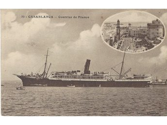 "French Liner "" VOLUBILIS "" at Casablanca"