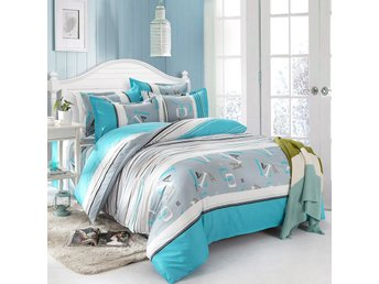 Boy Blue Single Double Queen King Size Bed Set Pillowcases Quilt Duvet Cover