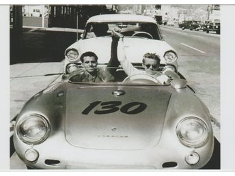 JAMES DEAN & ROLF WUTHERICH LAST OFFICIAL  PHOTOGRAPH