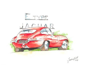 Jaguar E-type Tavla
