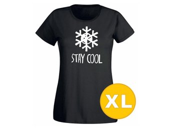 T-shirt Stay Cool Svart Dam tshirt XL