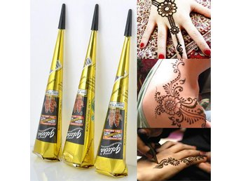 Natural Herbal Henna Cones tillfällig tatuering Kit - Emmaboda - Natural Herbal Henna Cones tillfällig tatuering Kit - Emmaboda