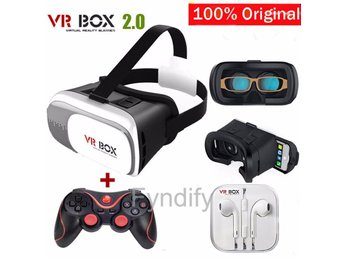 VR BOX 2.0 Version Virtual Reality Glasses Bluetooth Remote Control Gamepad