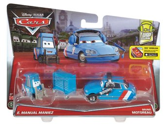 Disney Cars Pixar Mattel Bilar 2-Pack - Raouls Pitty & Bruno Motoreau