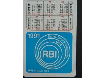 Radio Berlin International DDR Kalender 1991 Fickkalender Calendar samlarprylar