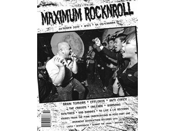Maximum Rocknroll Magazine *354 Nov 2012 - MAGAZINE NY - FRI FRAKT