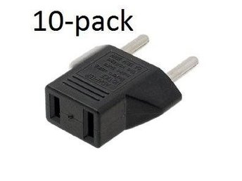 Adapter USA-Svensk strömkontakt 10-pack