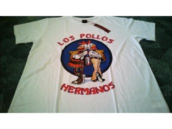 T-shirt. Vit. Exclusive A. Breaking Bad. Los Pollos. XL