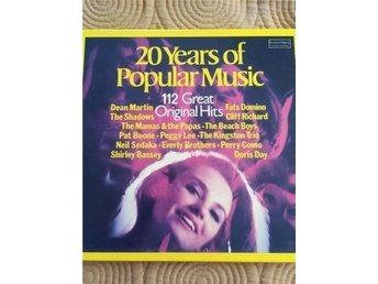 20 Years of popular Music 112 Greats Original Hits, 8 LP skivor - Norrköping - 20 Years of popular Music 112 Greats Original Hits, 8 LP skivor - Norrköping