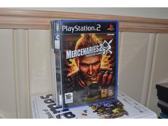MERCENARIES 2 WORLD IN FLAMES ps2 - ny / sealed 'PAL' - MINT