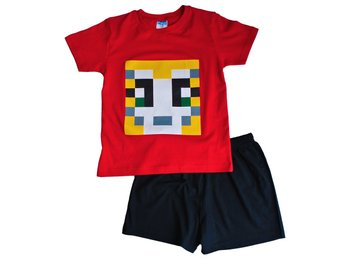 Boys Girls StampyLongNose Mr Stampy You Tube Pyjamas Red SHORT PIXEL