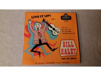 BILL HAYLEY - EP - LIVE IT UP - LONDON RECORDS - Made in England - Skivomslag