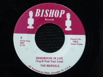 MARVELS - Somewhere in life/Voo doo hurt Bishop USA