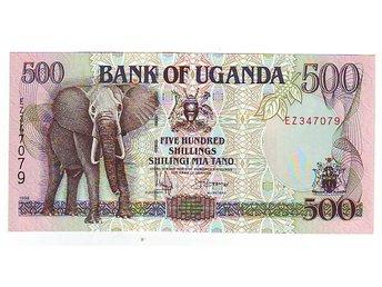 UNC Uganda 500 Shillings P-35a banknote 1996
