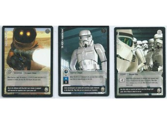 3 st STAR WARS JEDI KNIGHTS KORT - SET NR 1