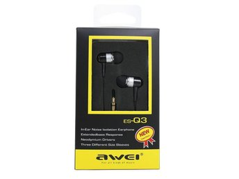 Nytt AWEI Q3 Stereo In-Ear Hi-Fi Headset